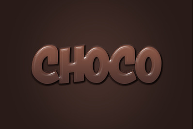 Choco Text Effect PSD