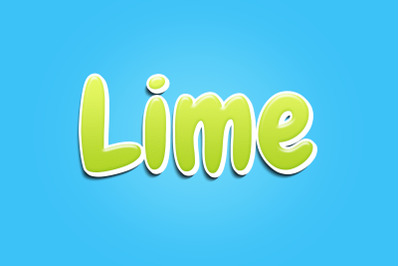 Lime Text Effect PSD