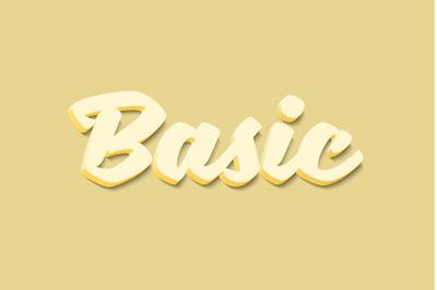 Basic 3D Text Effect PSD