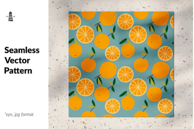 Trendy oranges seamless pattern