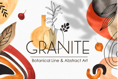 Botanical Line & Abstract Art