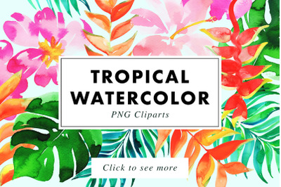 22 Tropical Watercolor Illustrations