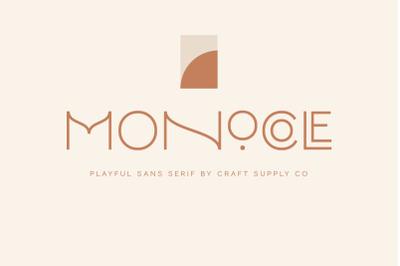 Monocole - Playful Sans Serif