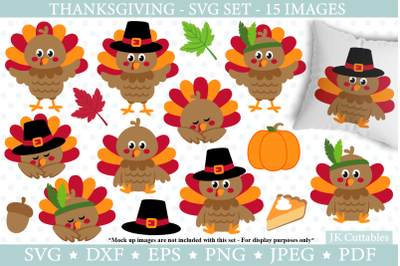 Thanksgiving Turkey SVG DXF PNG EPS JPEG cut files, Fall svg