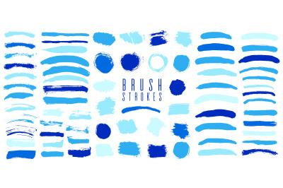 Brush set blue color