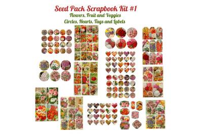 Seed Pack Ephemera Scrapbook Kit &23; 1
