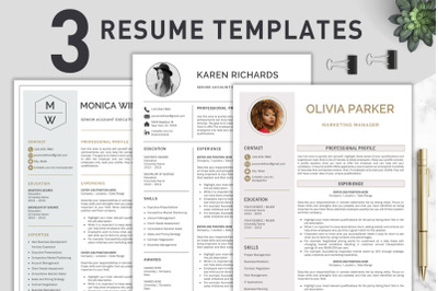 Resume Template / CV Bundle