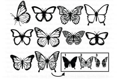Butterfly SVG Bundle SVG Cut File, Butterfly Clipart, Summer.