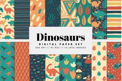 Dinosaur Digital Paper Set
