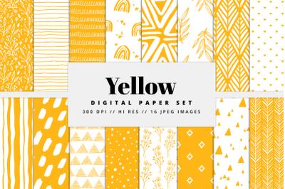 Yellow Digital Paper Set