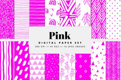Pink Digital Paper Set