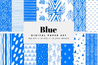 Blue Digital Paper Set