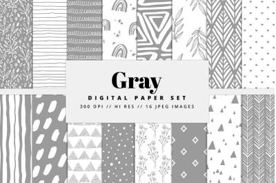 Gray Digital Paper Set