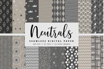 Neutrals Digital Paper Set