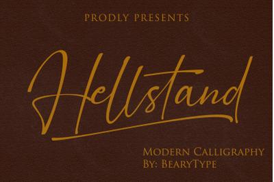 Hellstand // Script font