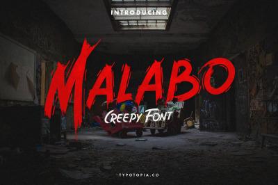 Malabo - Creepy Font