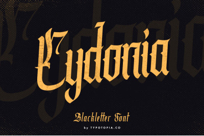 Cydonia - The Blackletter Font