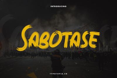 Sabotase - The Brush Font
