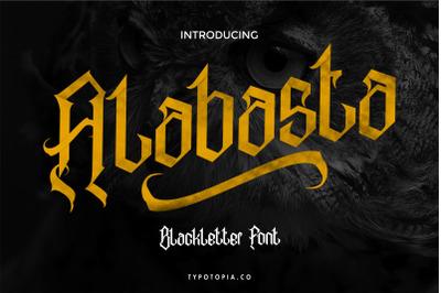 Alabasta - The Blackletter Font