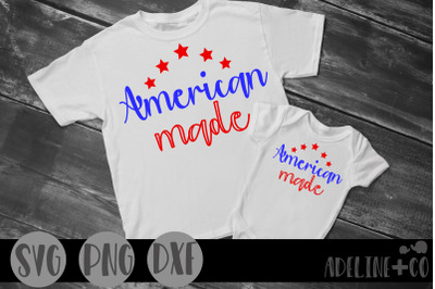 American made SVG, PNG, DXF