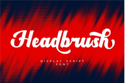 Headbrush - Display Script Font