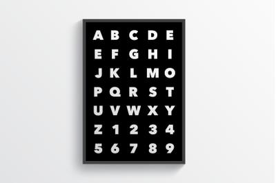 Alphabet Black - Wall Art Printable