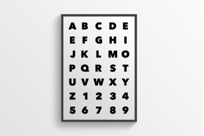 Alphabet White - Wall Art Printable