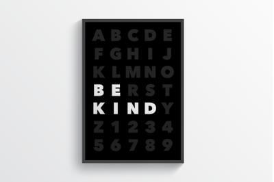 Be Kind - Wall Art Printable