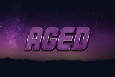 Aged  3D Text Style Effect PSD