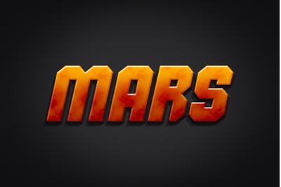 Mars 3D Text Effect PSD