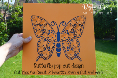 Butterfly pop out design