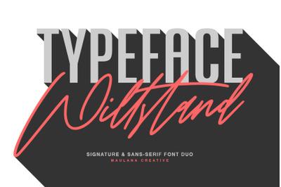 Willstand Font Duo Signature Sans Typeface