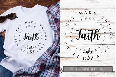 Faith Luke 1 37 SVG Design Cut File|SVG|PNG|PDF|EPS|DXF