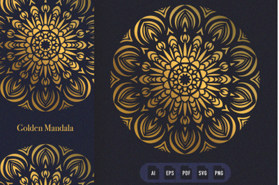 Golden Mandala Art 10