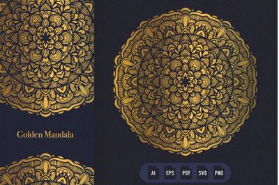 Golden Mandala Art 11