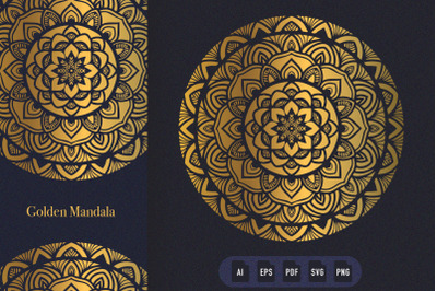 Golden Mandala Art 12
