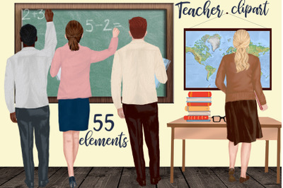Teachers clipart School clipart Back to school Teacher's Day