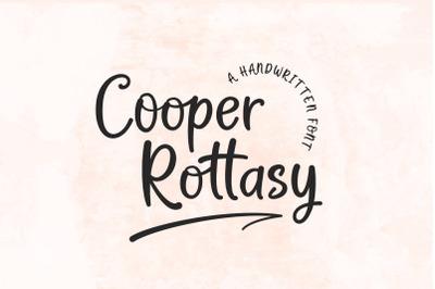 Cooper Rottasy - A Handwritten Font
