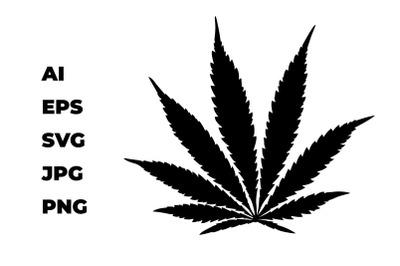 Cannabis leaf. Hemp.