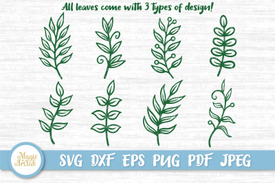 Paper leaves svg, Leaf svg, Leaves svg file, Leaves bundle, Cricut