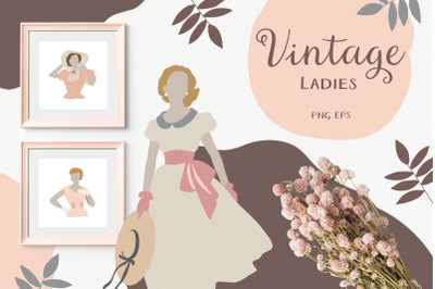 Vintage Abstract Woman Collection - Fashion Illustration - Ladies