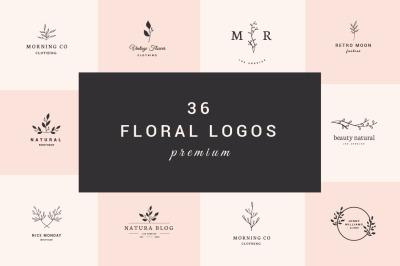 36 Floral Logos