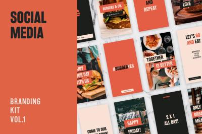 Burger & Restaurant Social Media Kit