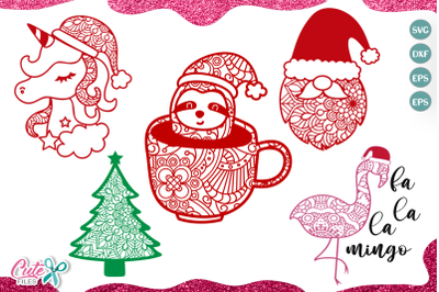 Christmas Mandala mini bundle SVG for crafters