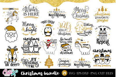 Christmas saying bundle SVG for crafters