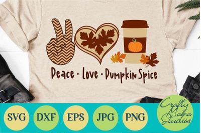 Peace Love Pumpkin Spice Svg, Fall Svg, Pumpkin Svg