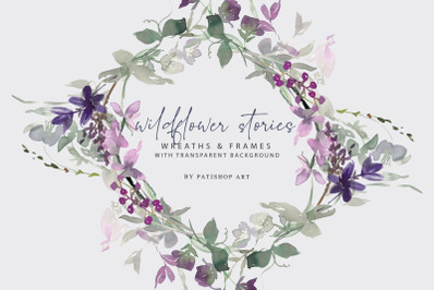 Watercolor Wildflower Clipart Collection