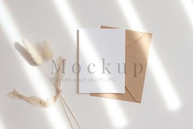 Greeting Card,Wedding Mockup,5x7 Card Mockup