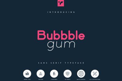 Bubbble Gum - sans serif typeface