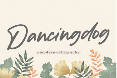 Dancingdog Modern Calligraphy Font
